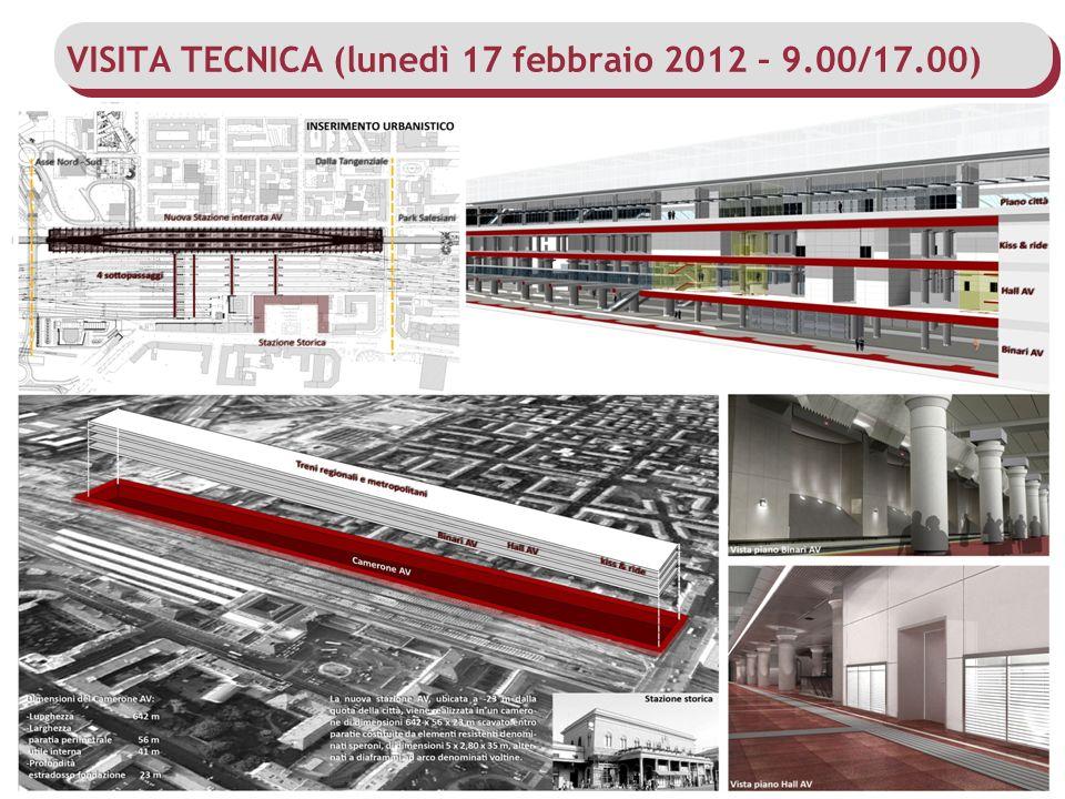 VISITA TECNICA (lunedì 17 febbraio 2012 – 9.00/17.00)