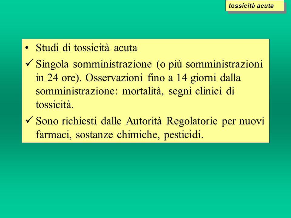 Studi di tossicità acuta