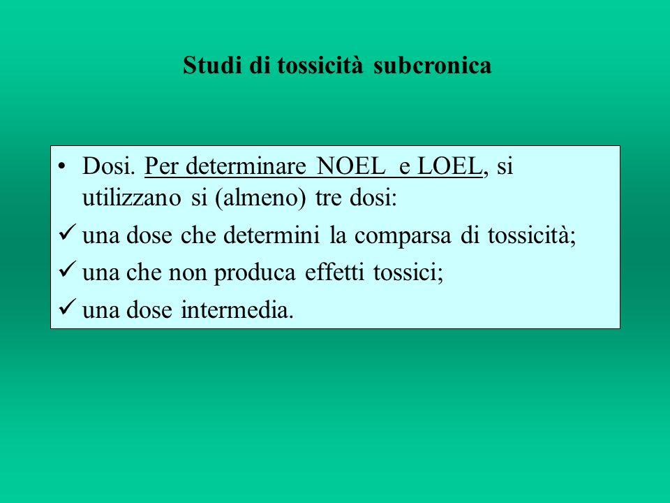 Studi di tossicità subcronica