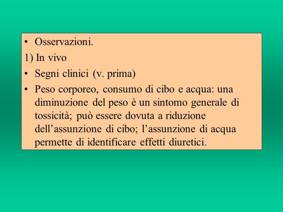 Osservazioni. 1) In vivo. Segni clinici (v. prima)