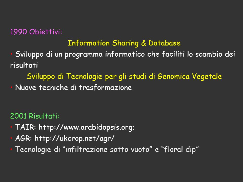 Information Sharing & Database