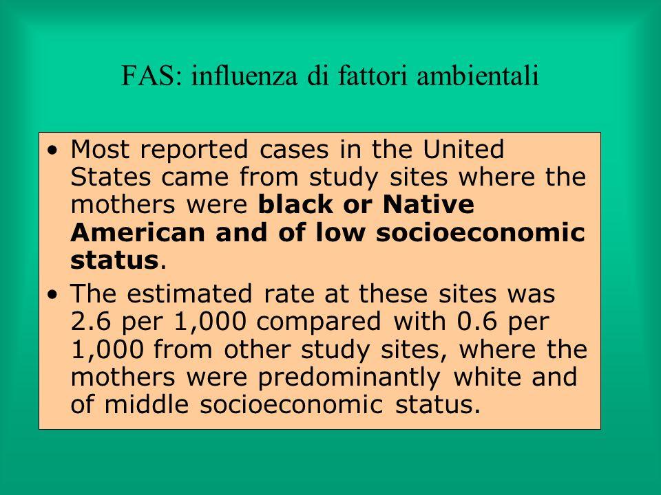 FAS: influenza di fattori ambientali