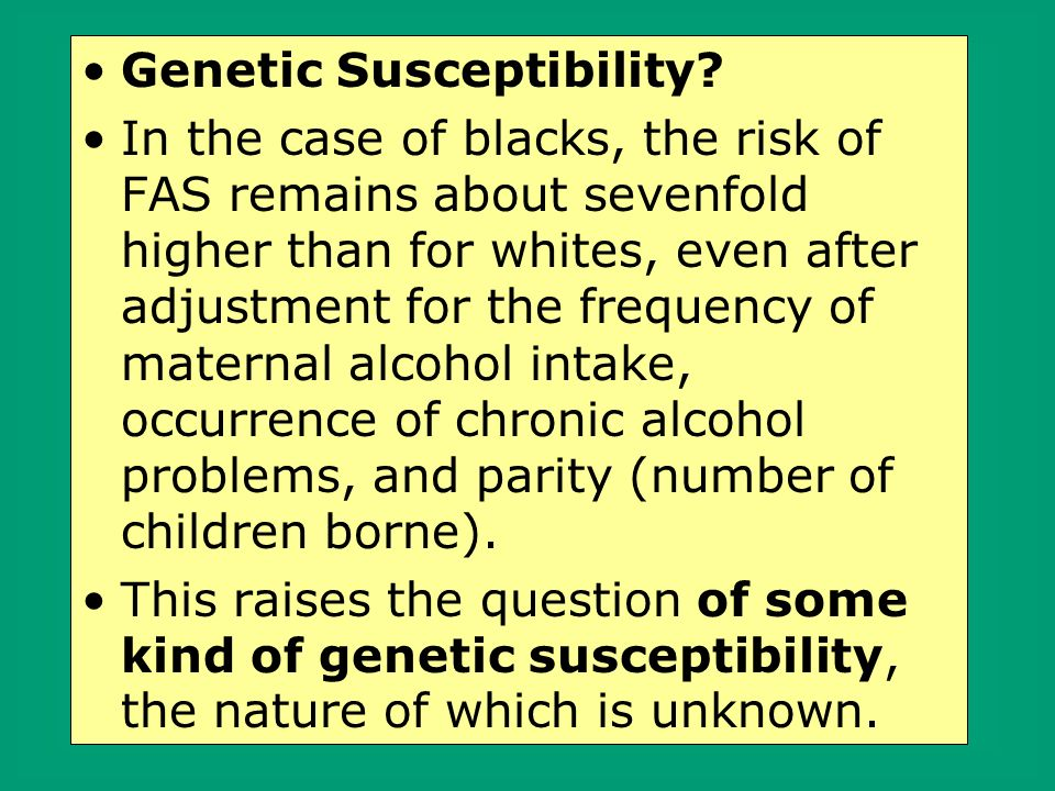 Genetic Susceptibility