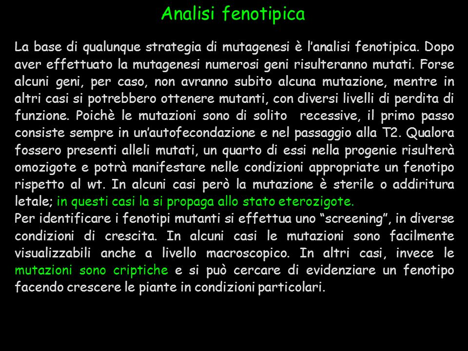 Analisi fenotipica