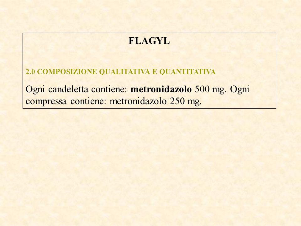 FLAGYL 2.0 COMPOSIZIONE QUALITATIVA E QUANTITATIVA.