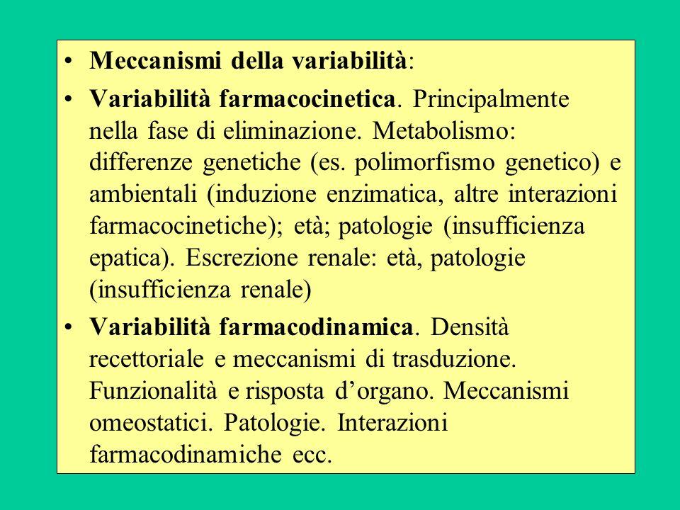 Meccanismi della variabilità: