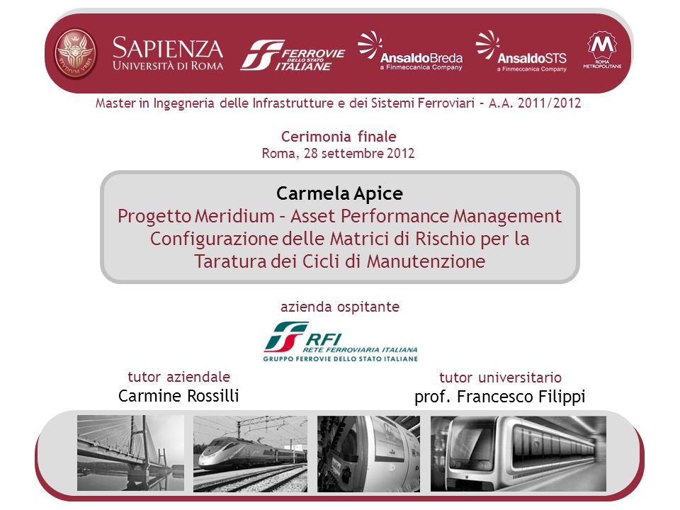 Progetto Meridium – Asset Performance Management