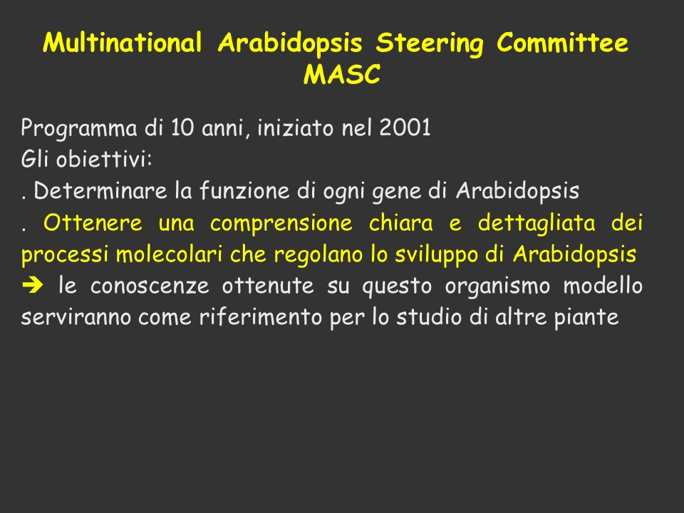 Multinational Arabidopsis Steering Committee