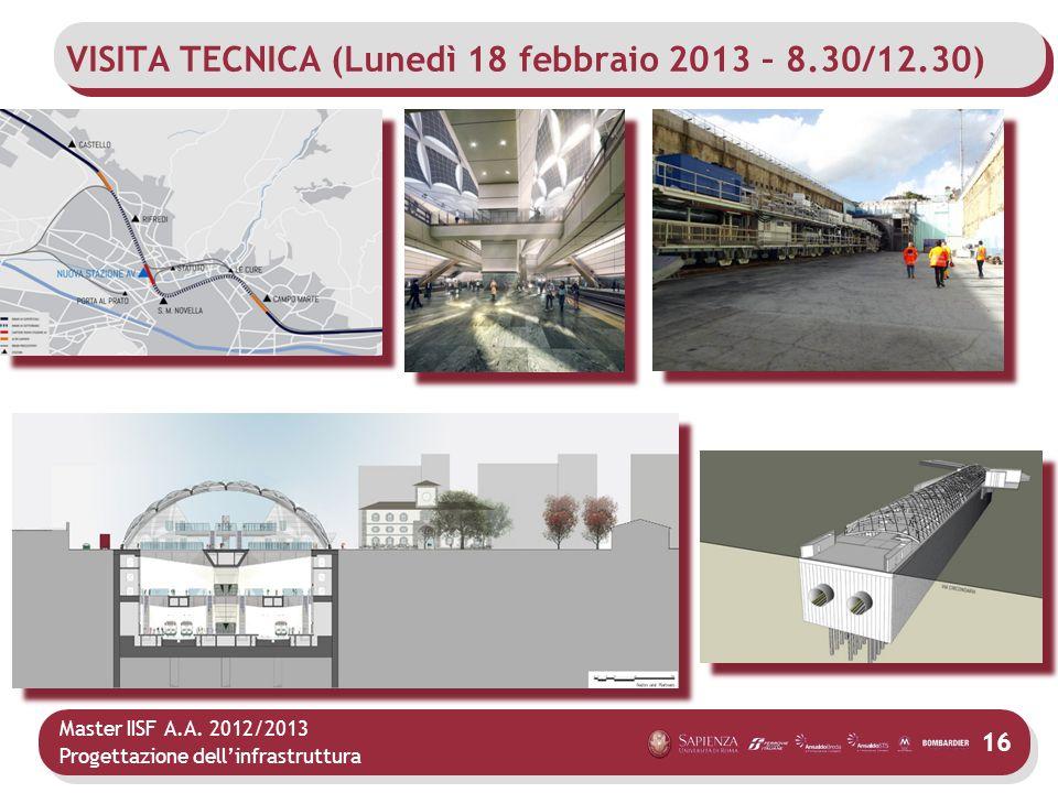 VISITA TECNICA (Lunedì 18 febbraio 2013 – 8.30/12.30)