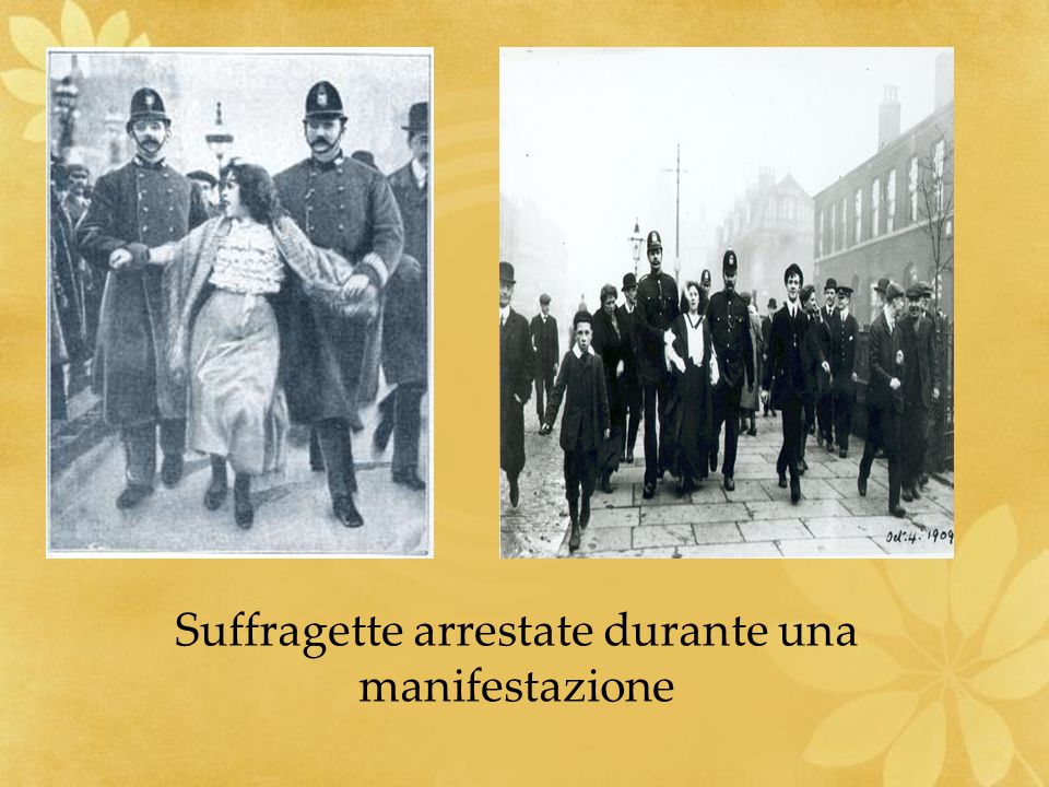 Suffragette arrestate durante una manifestazione