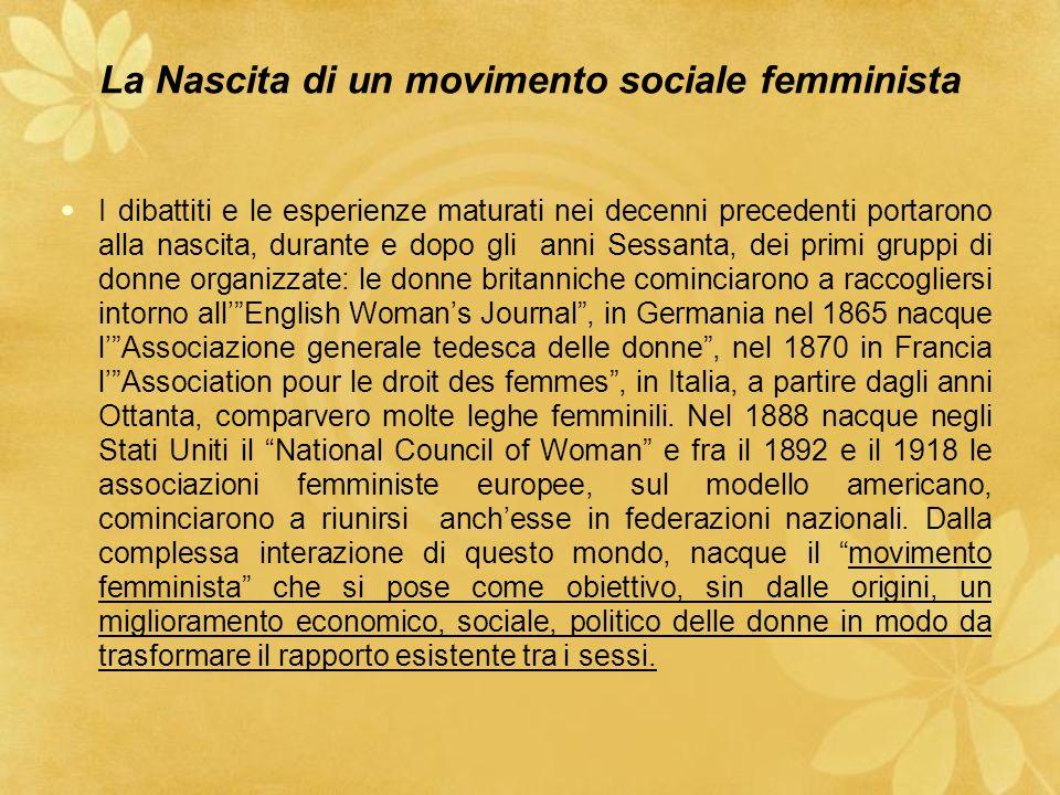 La Nascita di un movimento sociale femminista