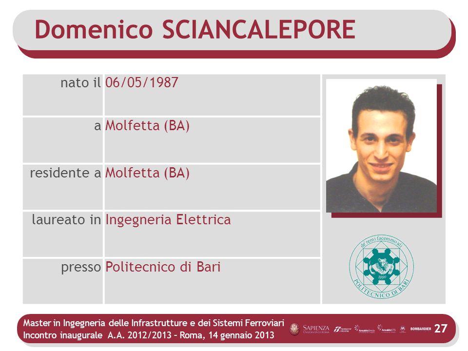 Domenico SCIANCALEPORE