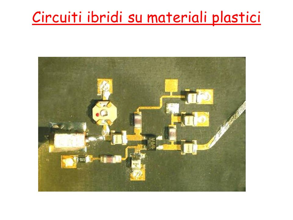 Circuiti ibridi su materiali plastici