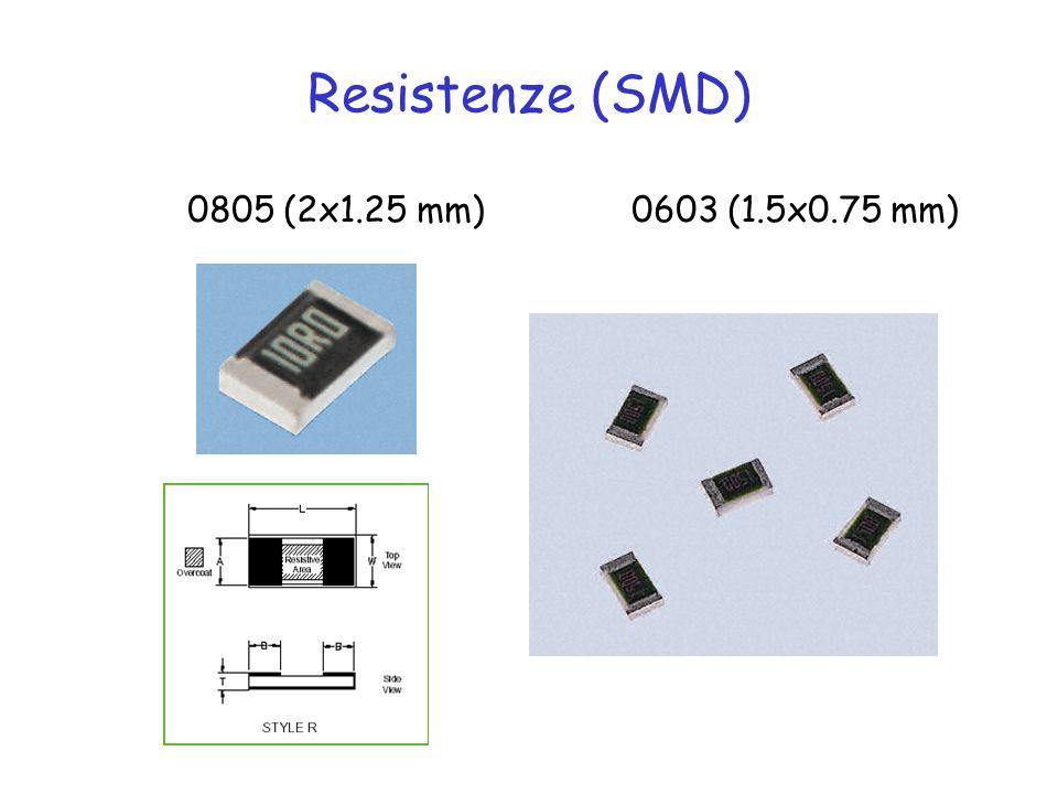 Resistenze (SMD) 0805 (2x1.25 mm) 0603 (1.5x0.75 mm)
