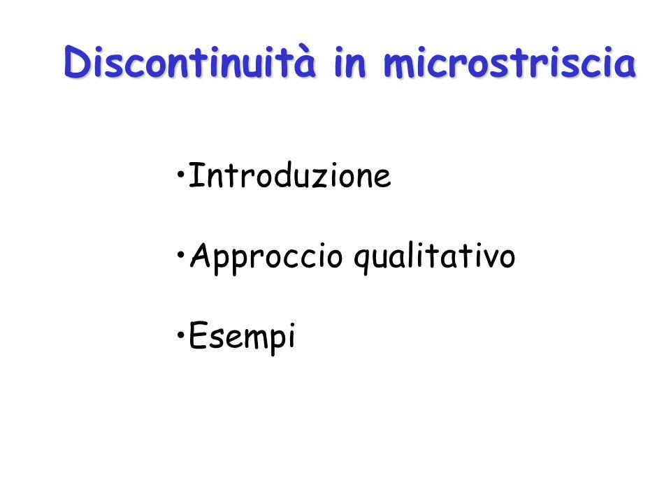 Discontinuità in microstriscia