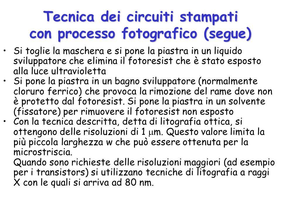 Tecnica dei circuiti stampati con processo fotografico (segue)
