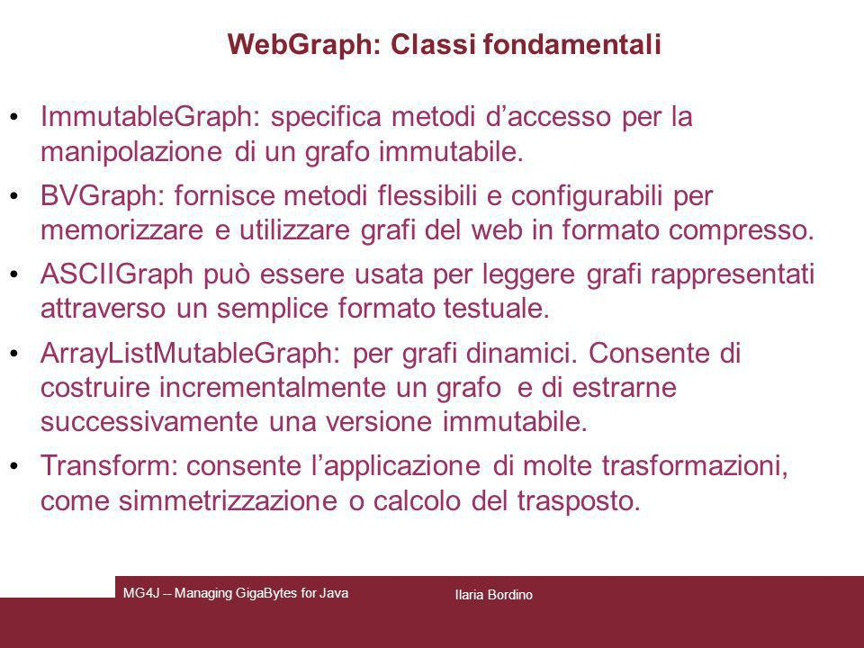 WebGraph: Classi fondamentali