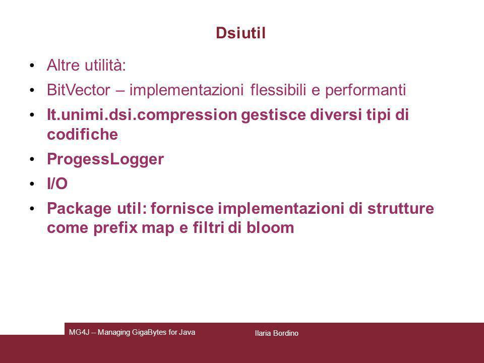 BitVector – implementazioni flessibili e performanti