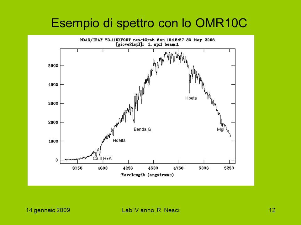 Esempio di spettro con lo OMR10C