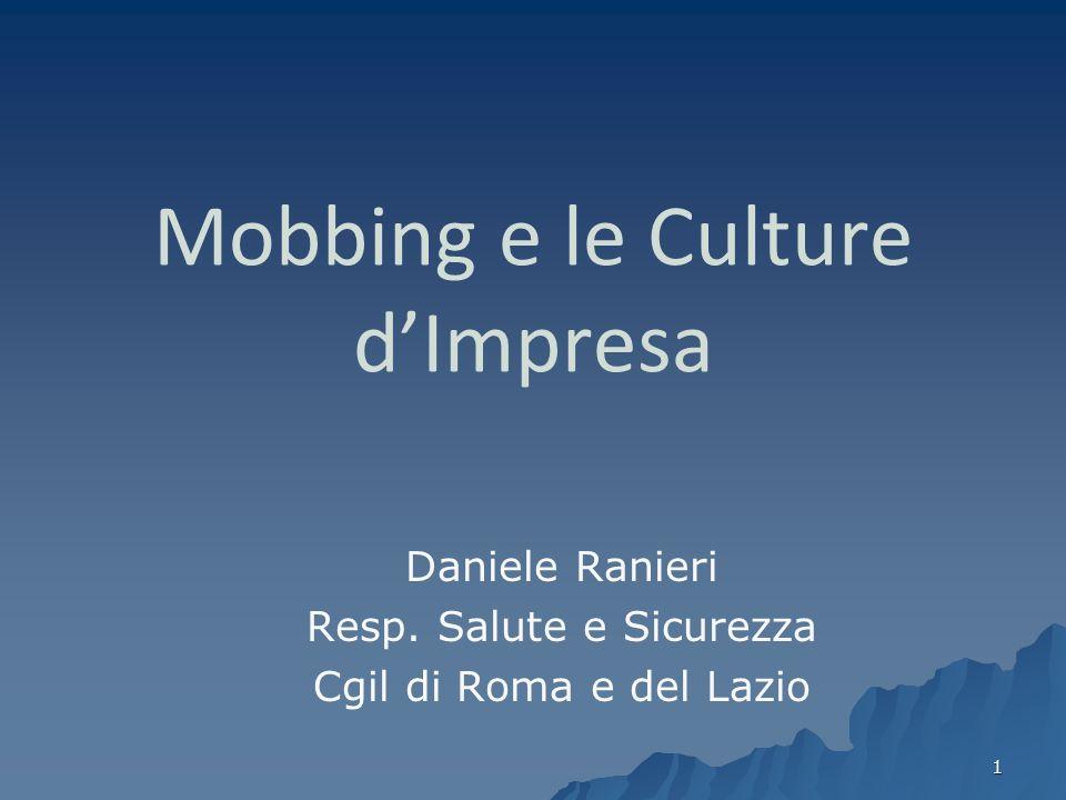 Mobbing e le Culture d'Impresa