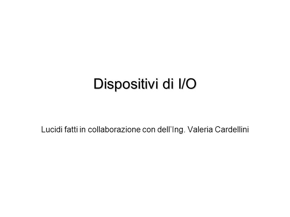 Lucidi fatti in collaborazione con dell'Ing. Valeria Cardellini