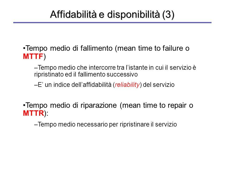 Affidabilità e disponibilità (3)