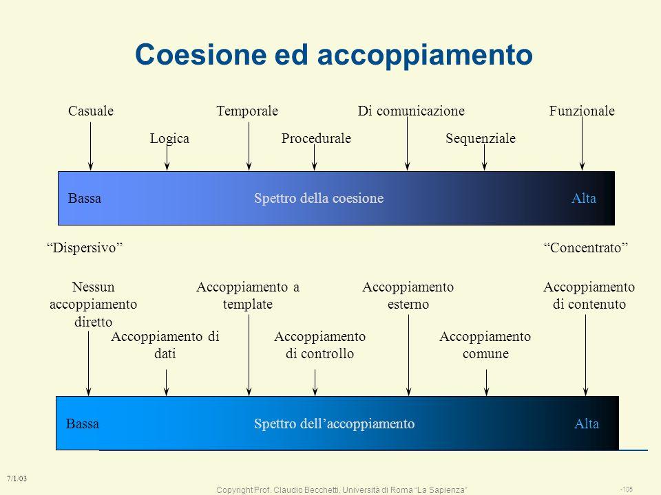 Coesione ed accoppiamento