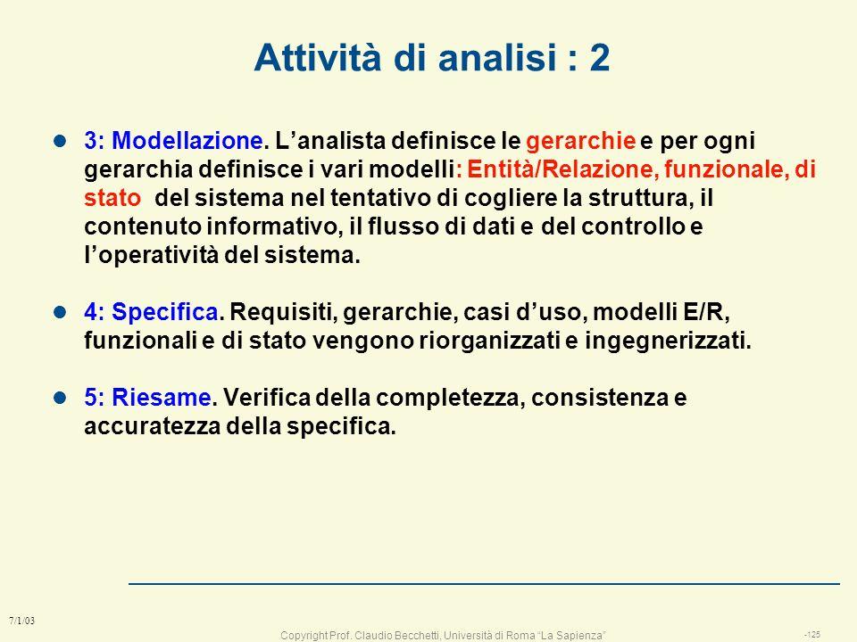 Attività di analisi : 2