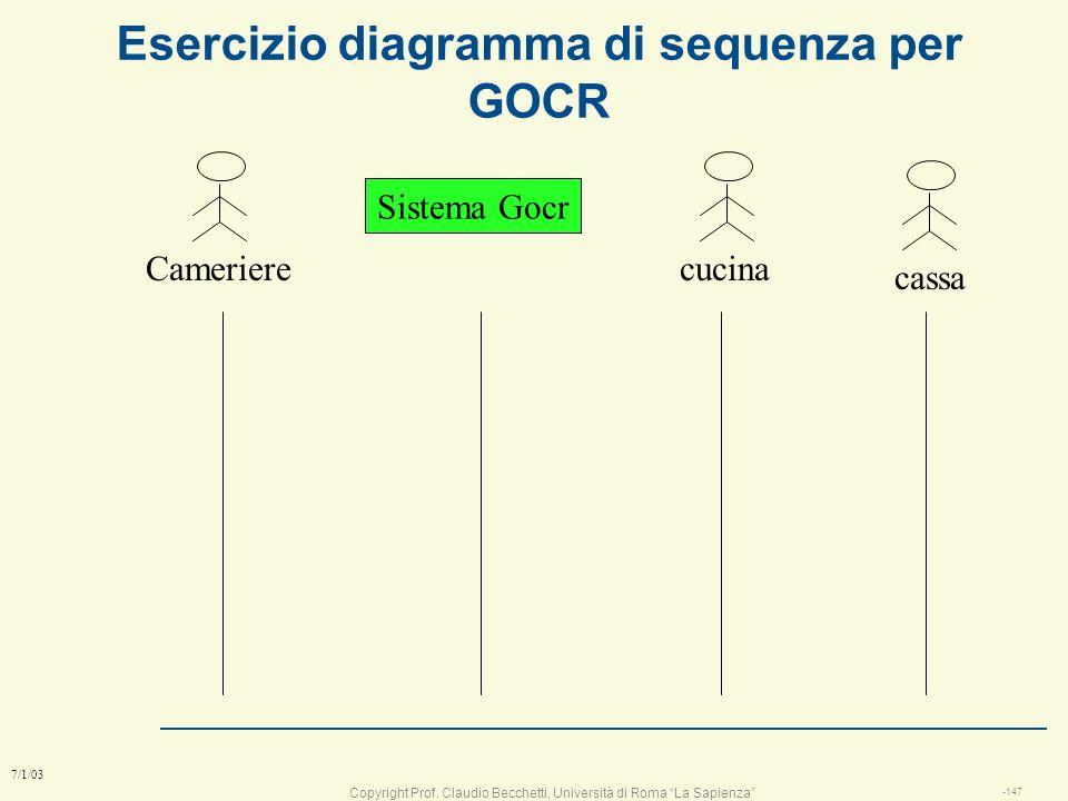 Esercizio diagramma di sequenza per GOCR