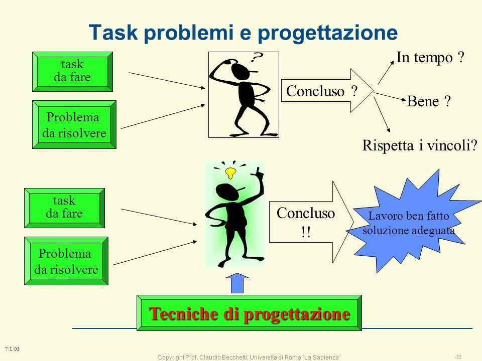 Task problemi e progettazione