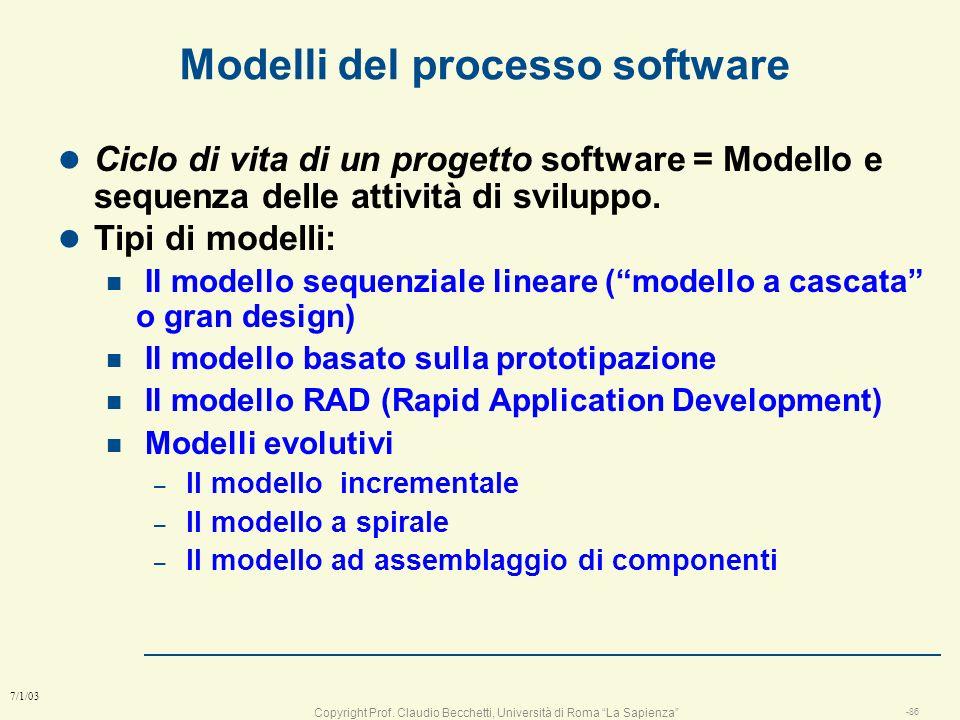 Modelli del processo software
