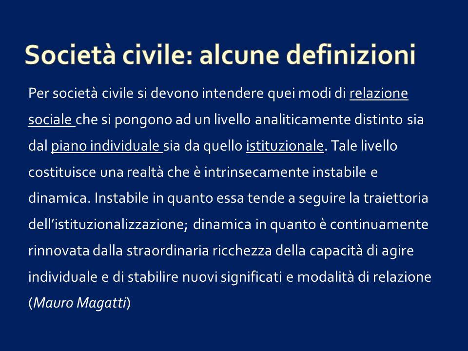 Società civile: alcune definizioni