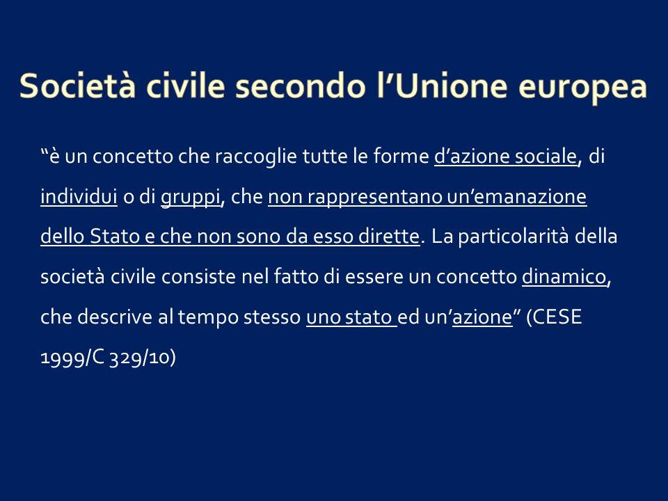 Società civile secondo l'Unione europea
