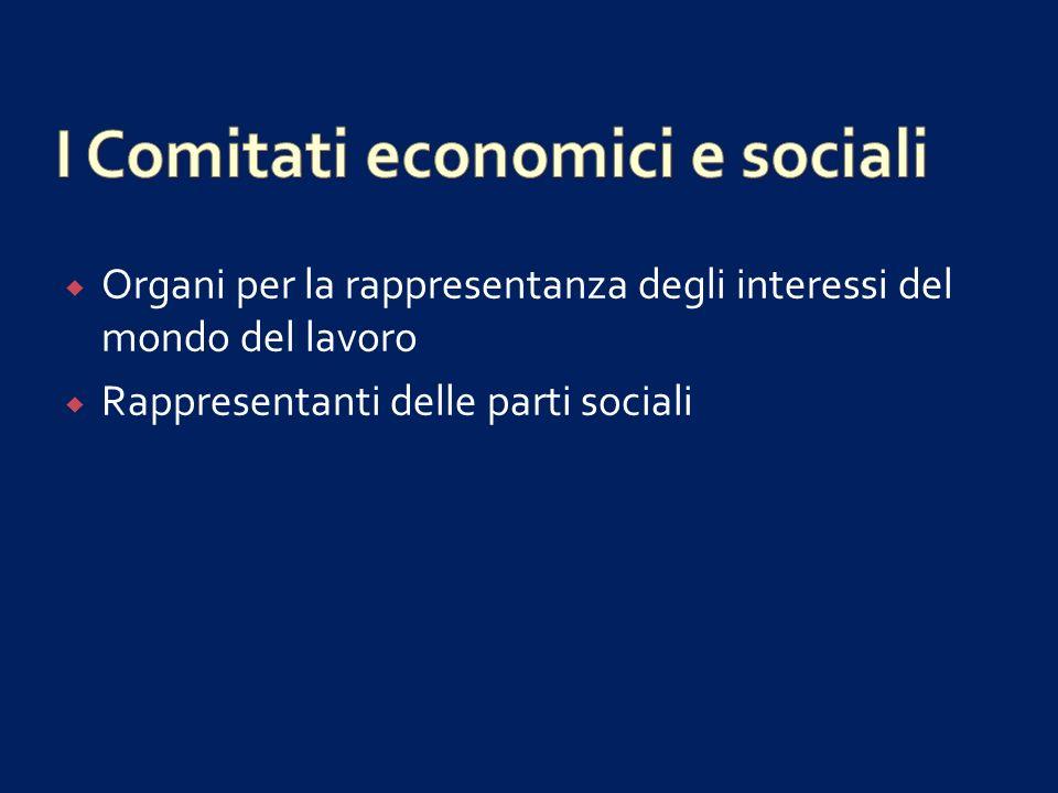I Comitati economici e sociali