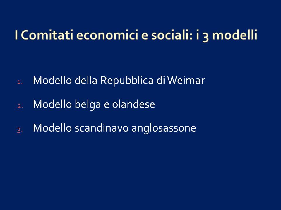 I Comitati economici e sociali: i 3 modelli