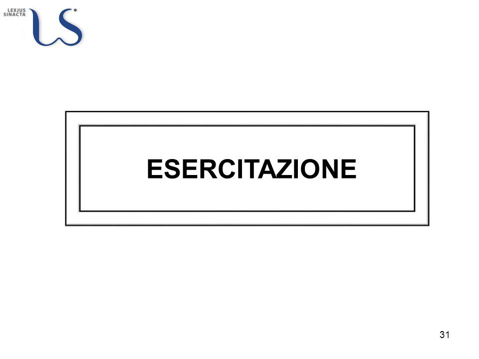 ESERCITAZIONE