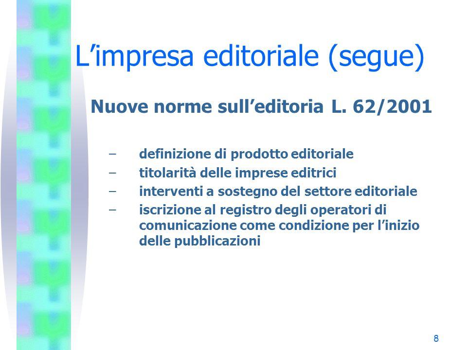L'impresa editoriale (segue)