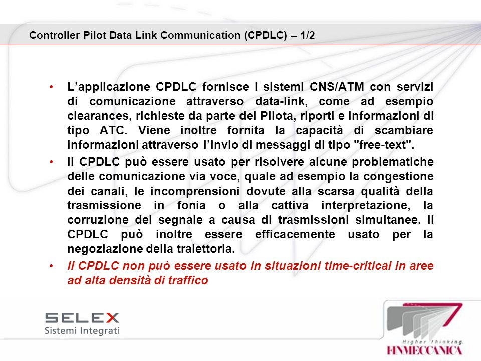 Controller Pilot Data Link Communication (CPDLC) – 1/2