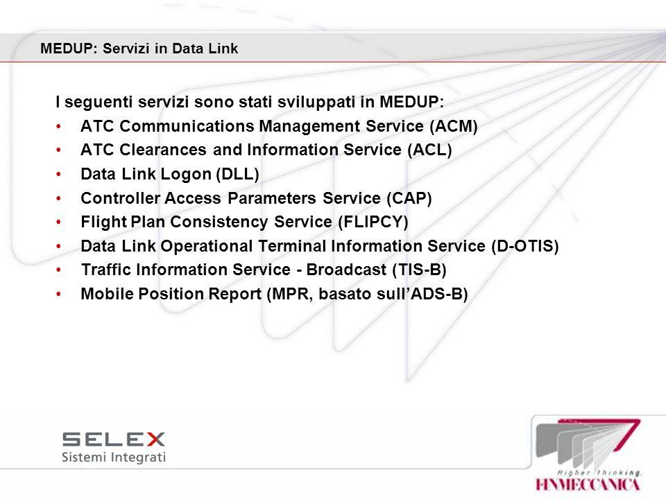 MEDUP: Servizi in Data Link
