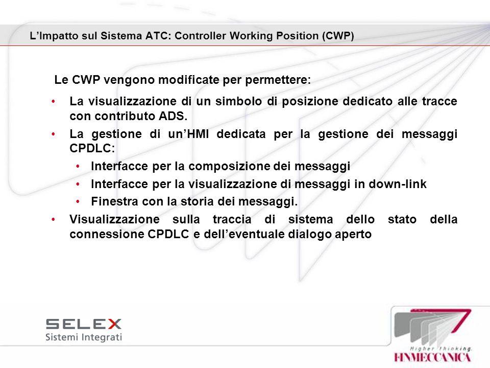 L'Impatto sul Sistema ATC: Controller Working Position (CWP)