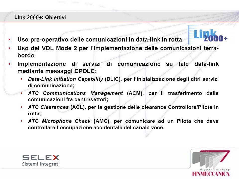 Uso pre-operativo delle comunicazioni in data-link in rotta