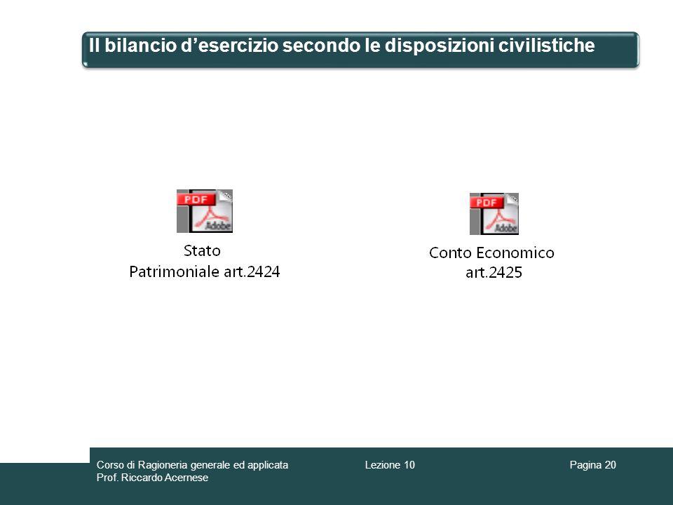Il bilancio d'esercizio secondo le disposizioni civilistiche
