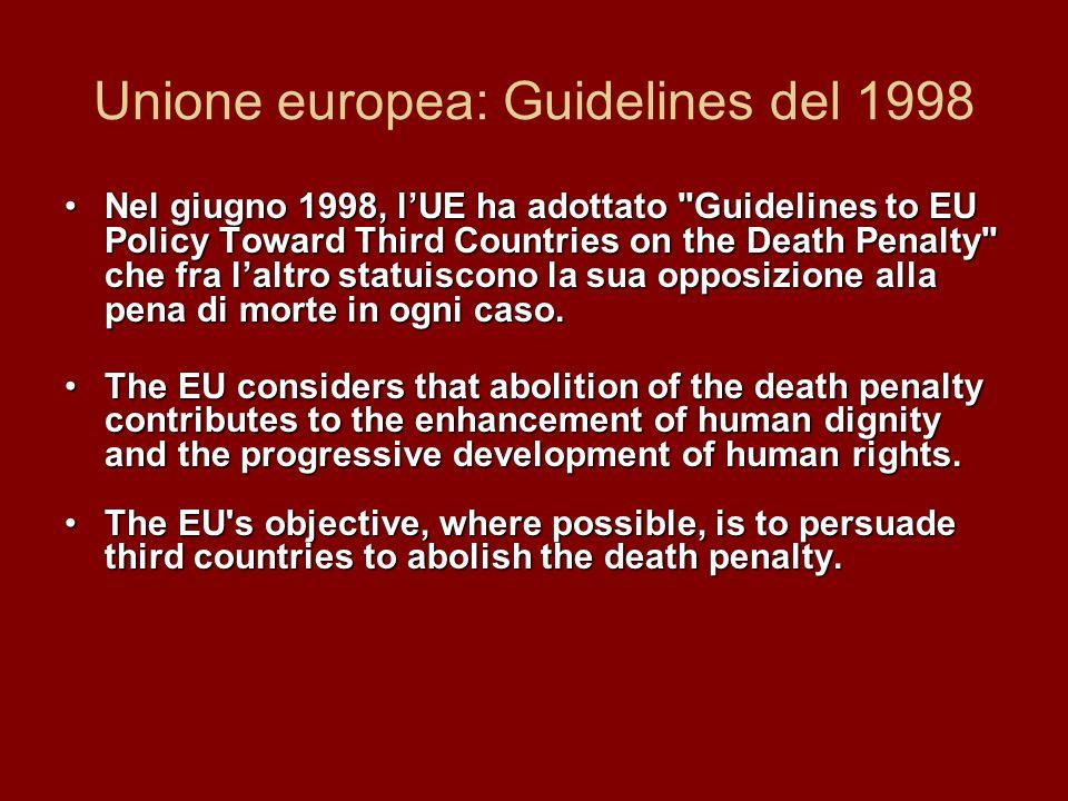 Unione europea: Guidelines del 1998