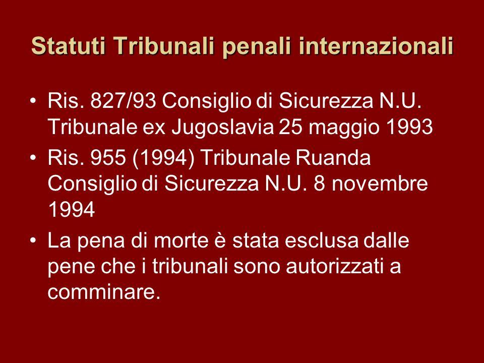 Statuti Tribunali penali internazionali