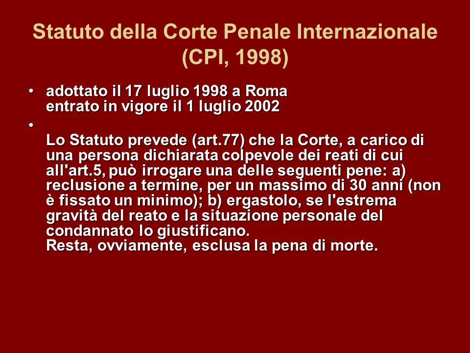 Statuto della Corte Penale Internazionale (CPI, 1998)