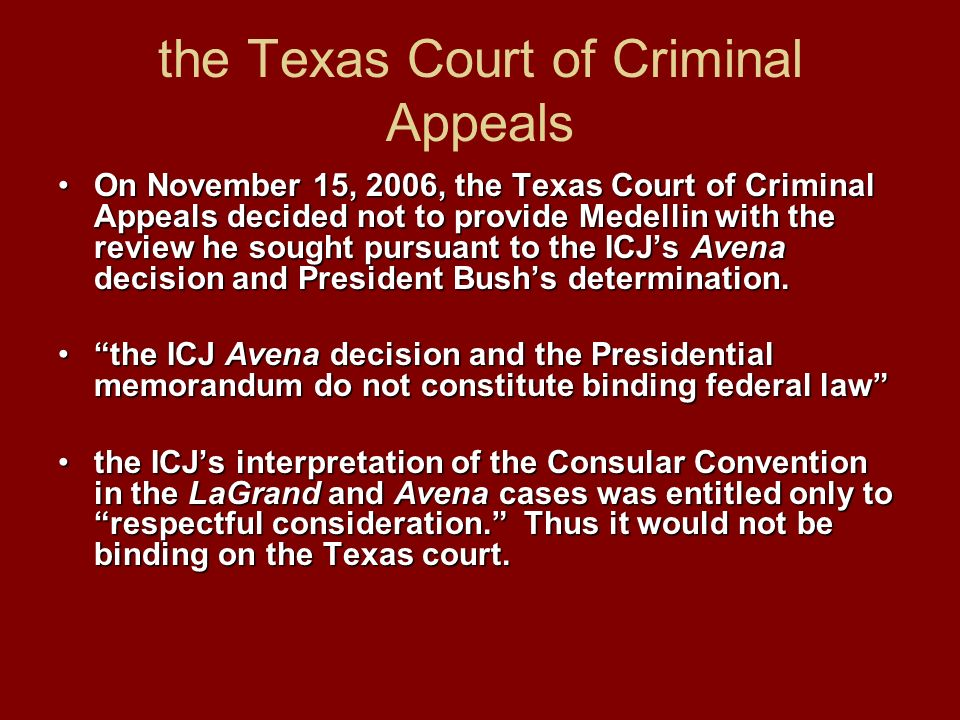 the Texas Court of Criminal Appeals
