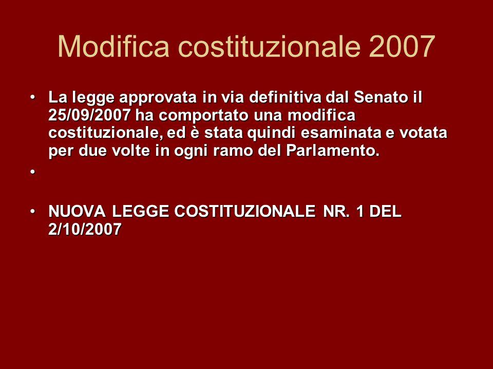 Modifica costituzionale 2007