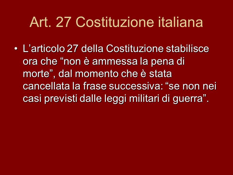 Art. 27 Costituzione italiana