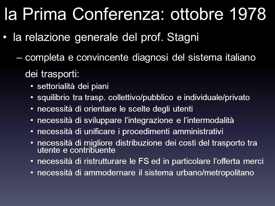 la Prima Conferenza: ottobre 1978