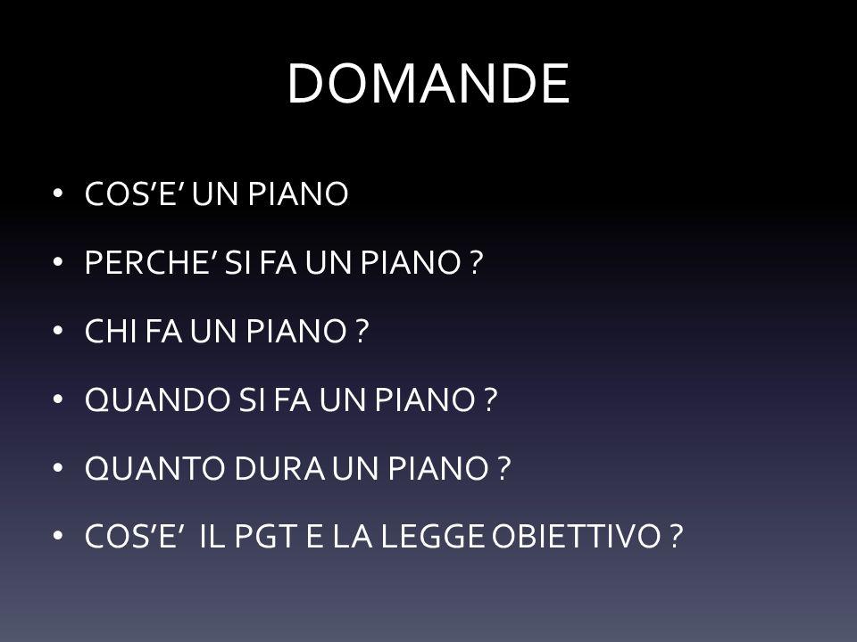 DOMANDE COS'E' UN PIANO PERCHE' SI FA UN PIANO CHI FA UN PIANO